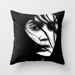 The Expected Intensity (Sketchy Reputation / Jeff Gross) Throw Pillow
