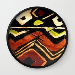 Africa Design Fabric Texture Wall Clock