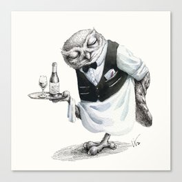 Waiter Owl Canvas Print