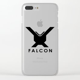 Falcon (Black) Clear iPhone Case