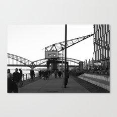 Crane in Harbour Canvas Print