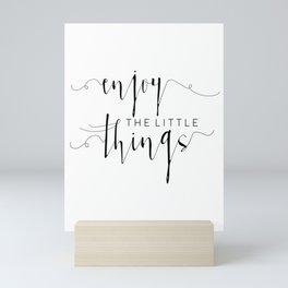 PRINTABLE Art, Enjoy The Little Things, Inspirational Quote, Kitchen Decor,kitchen Sign, Quote Print Mini Art Print