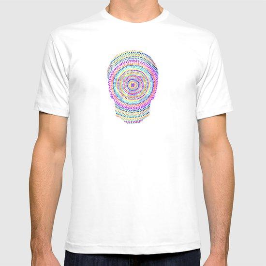divisionism skull mandala T-shirt