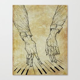 Hand of the pianist Canvas Print