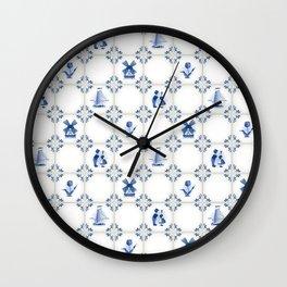 Delft Blue Holland Pottery Wall Clock