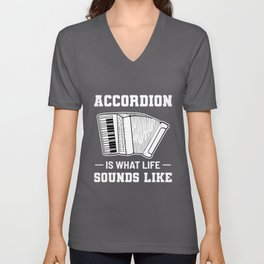 Accordion Teacher Music Player Piano Musician Gift Unisex V-Neck
