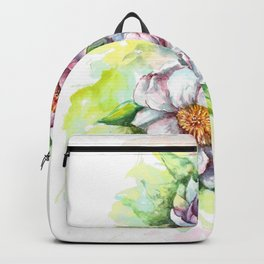 Cherry flowers watercolour Backpack