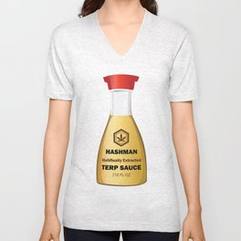 Hashman Terp Sauce Design by Outlet710.com Unisex V-Neck