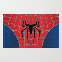 spider man Area & Throw Rugs featuring Spider-Man by C.Rhodes Design