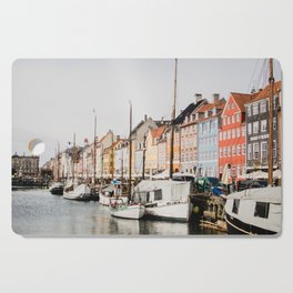 The Row | City Photography of Boats and Colorful Houses in Nyhavn Copenhagen Denmark Europe Cutting Board