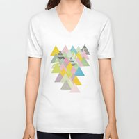 french V-neck T-shirts featuring French Alps by Cassia Beck