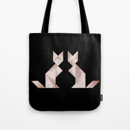 Tangram Cats Black & White Tote Bag