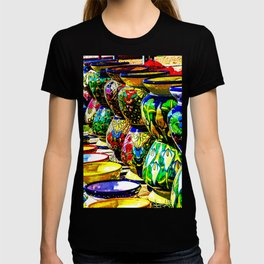 Talavera Pottery Jars for Sale in New Mexico T-shirt