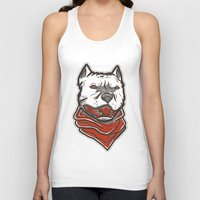 pitbull Tank Tops featuring Pitbull by VentureDesign