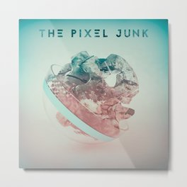 The pixel junk Metal Print