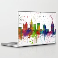 atlanta Laptop & iPad Skins featuring Atlanta Skyline by Marlene Watson