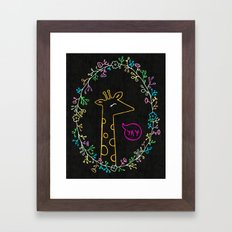 Happy Giraffe Framed Art Print