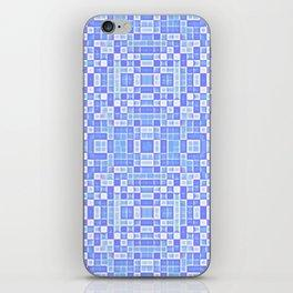 Periwinkle Blue Pixels Pattern iPhone Skin