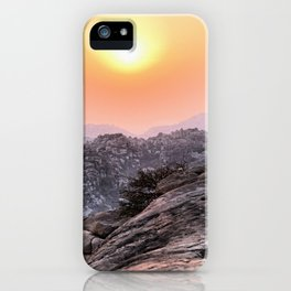 "Sunset near the ""Hanuman temple"". Hampi. India. iPhone Case"