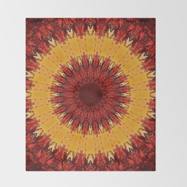 KALEIDOSCOPIC FALL Throw Blanket