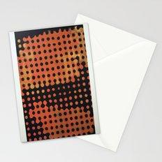ORANGE HALFTONE Stationery Cards