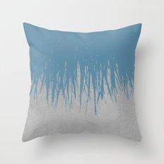 Concrete Fringe Blue Throw Pillow