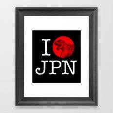 I Love Japan Framed Art Print