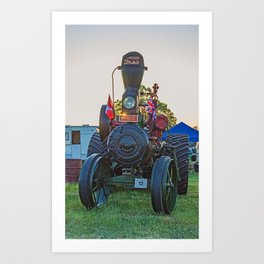 Moose traction engine at sunset Art Print
