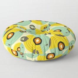 Turntables (Yellow) Floor Pillow