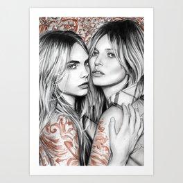 Kate and Cara Art Print