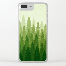 C1.3 Pine Gradient Clear iPhone Case