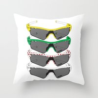 tour de france Throw Pillows featuring Tour de France Glasses by Pedlin