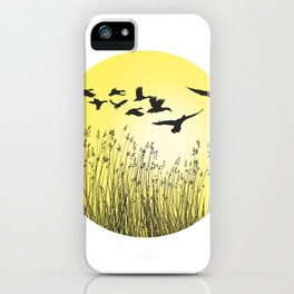 Mallards and reeds in the ring iPhone Case