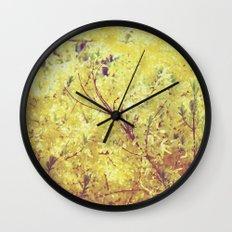 yellow flower - Forsythia Wall Clock
