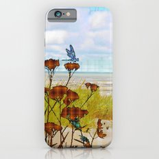 Plaid Beachscape with Dragonflies Slim Case iPhone 6s