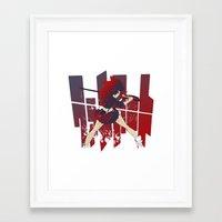kill la kill Framed Art Prints featuring Kill La Kill FANART by tsuzuku