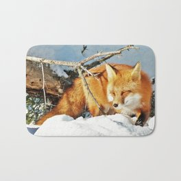 Algonquin Red Fox in the Snow Bath Mat