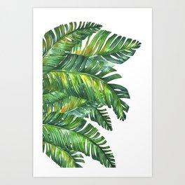 tropical green 2 Art Print