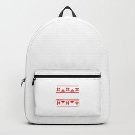 Bah Humbug Ugly Christmas Sweater - Funny Grumpy Humor Pun Cool Gift Design Backpack