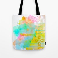 water color Tote Bags featuring Water Color by Madi Es