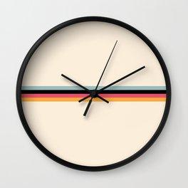 Ishtar - Classic Retro Summer Stripes Wall Clock