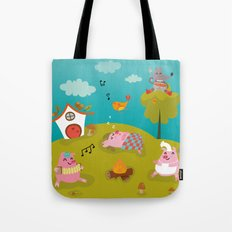 Three little PIG Tote Bag
