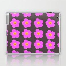 Tiny pink retro flowers on a dark grey background - #Society6 #buyart Laptop & iPad Skin