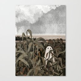 There's A Ghost in the Cornfield Again Canvas Print