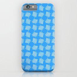 Antic pattern 28- grid or rack - blue iPhone Case