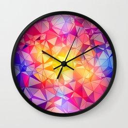 Polygonal Pattern Wall Clock