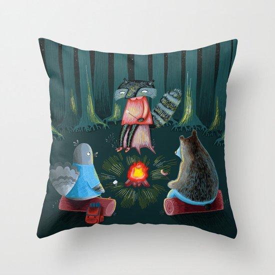 Woodland Friends  Throw Pillow