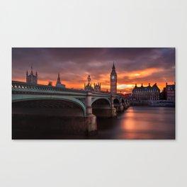London's burning sky Canvas Print