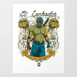 El luchador Art Print