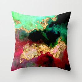 100 Starry Nebulas in Space 065 (Portrait) Throw Pillow